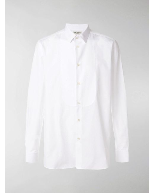 878d2551b3811a Saint Laurent Classic Long-sleeve Shirt in White for Men - Save 30 ...