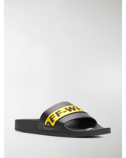 lyst off white c o virgil abloh industrial slippers in black for