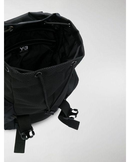 Lyst Y 3 Black Mobility Logo Print Backpack in Black for Men