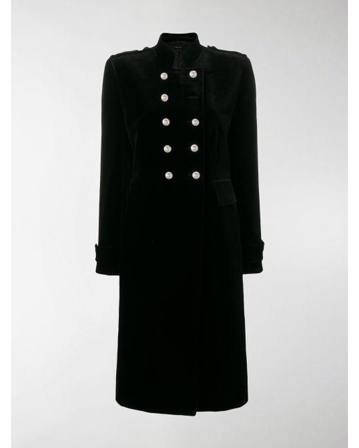 Tom Ford - Black Long Military Coat - Lyst