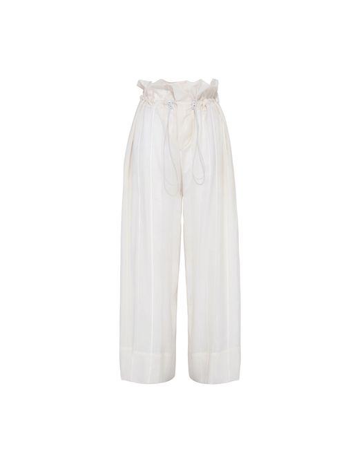 Stella McCartney | White Cream High Waisted Trousers | Lyst