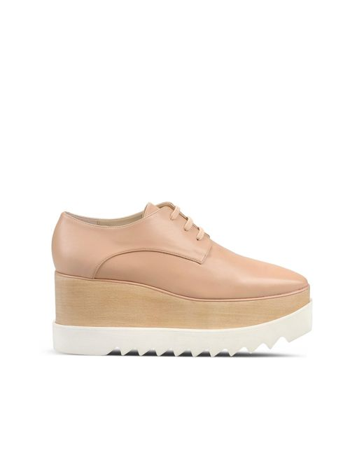 Stella McCartney   Natural Britt Faux-Leather Oxford Shoes   Lyst