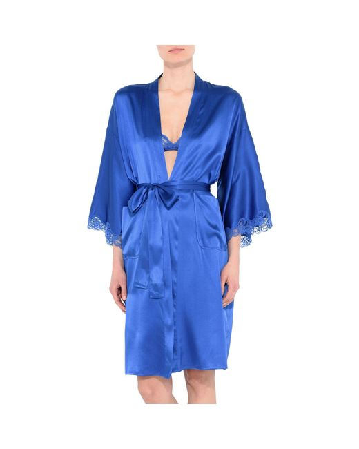 stella mccartney robe in blue save 31 lyst. Black Bedroom Furniture Sets. Home Design Ideas