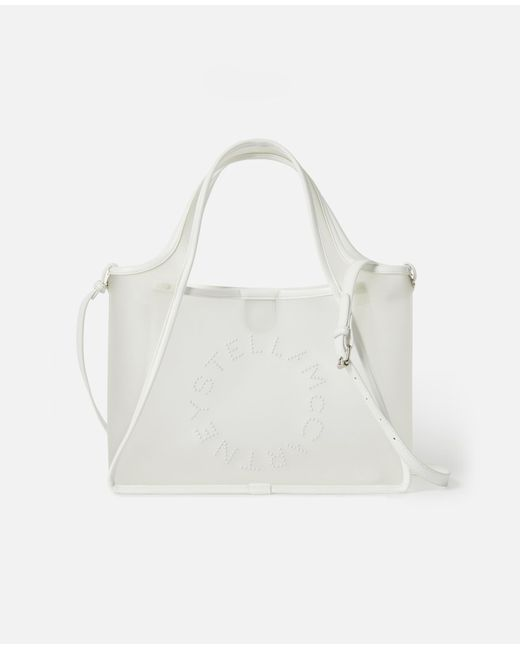 9b4d32f54688f Stella McCartney - White Stella Logo Crossbody Bag - Lyst ...