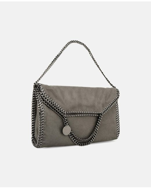 Stella McCartney - Gray Light Grey Falabella Shaggy Deer Fold Over Tote - Lyst