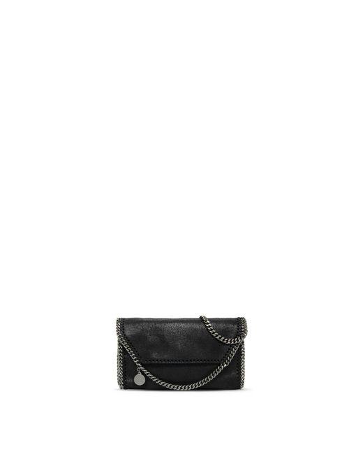 Stella McCartney | Black Falabella Shaggy Deer Mini Bag | Lyst