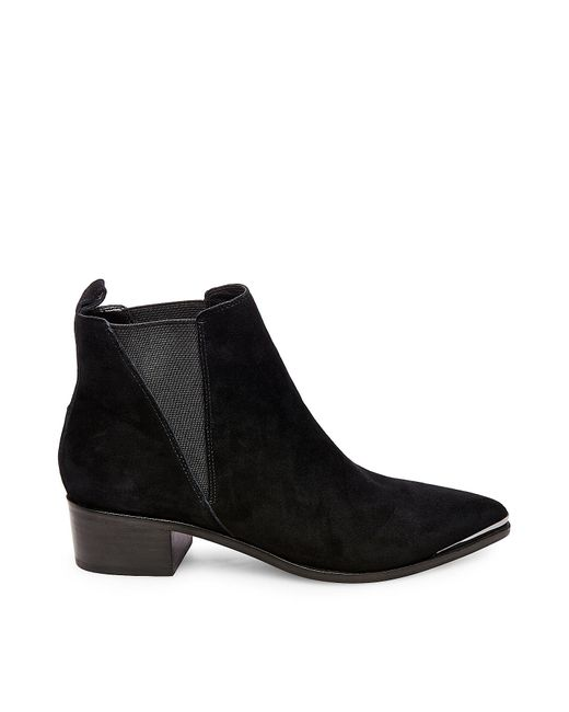 Steve Madden | Black Neema Leather Ankle Boots | Lyst