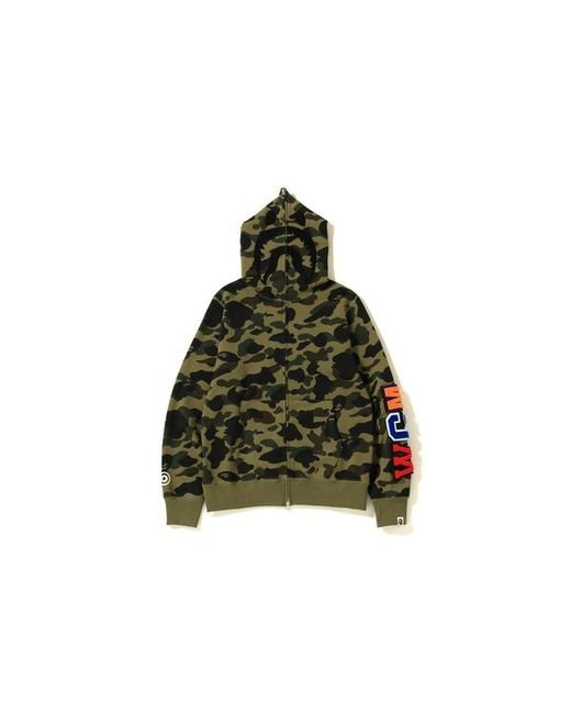 e2de2f90 A Bathing Ape 1st Camo Detachable Shark Hoodie Green in Green for ...