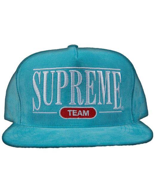 Lyst - Supreme University 5 Panel Hat Light Blue in Blue for Men ff2ca160a8d