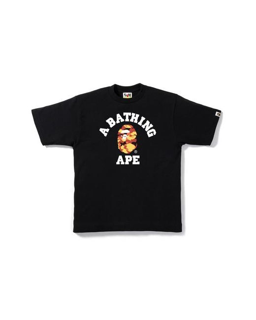 4f474a1f8 A Bathing Ape 1st Camo College Tee Black/red in Black for Men - Lyst