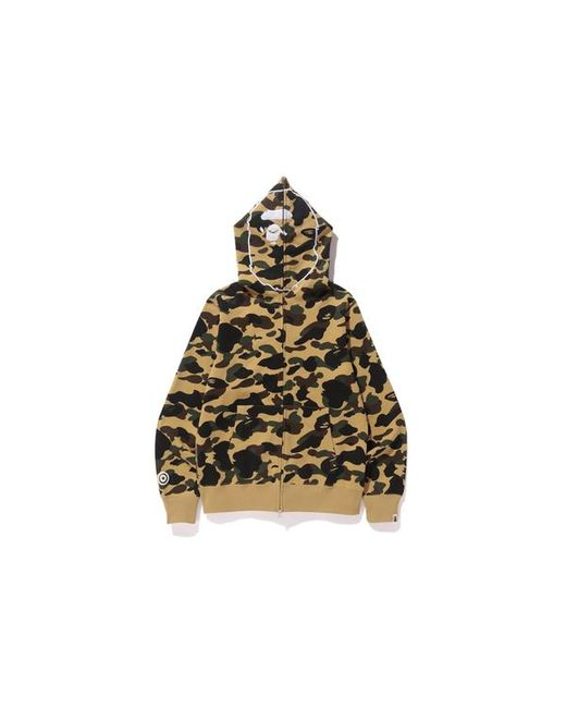 bed83fc87c0c Lyst - A Bathing Ape 1st Camo Ape Full Zip Hoodie Yellow in Yellow ...