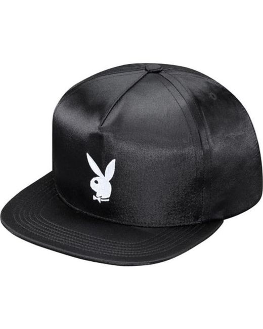 the best attitude 3b509 0b693 Supreme - Playboy Satin 5 Panel Black for Men - Lyst