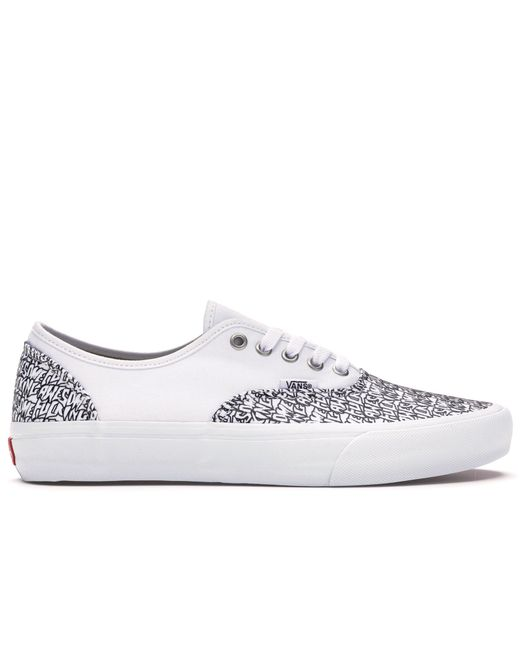 475850ff Vans Authentic Fucking Awesome White in White for Men - Lyst