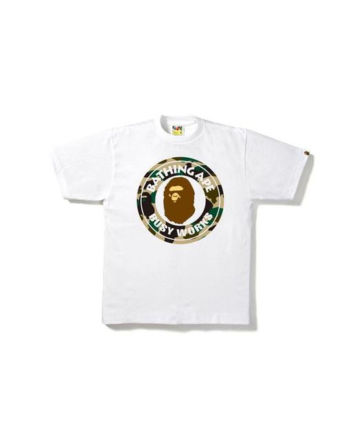 78ad8035 Lyst - A Bathing Ape 1st Camo Busy Works Tee White/beige in White ...
