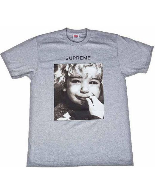 d2463ad91 Lyst - Supreme Crybaby Tee Heather Grey in Gray for Men