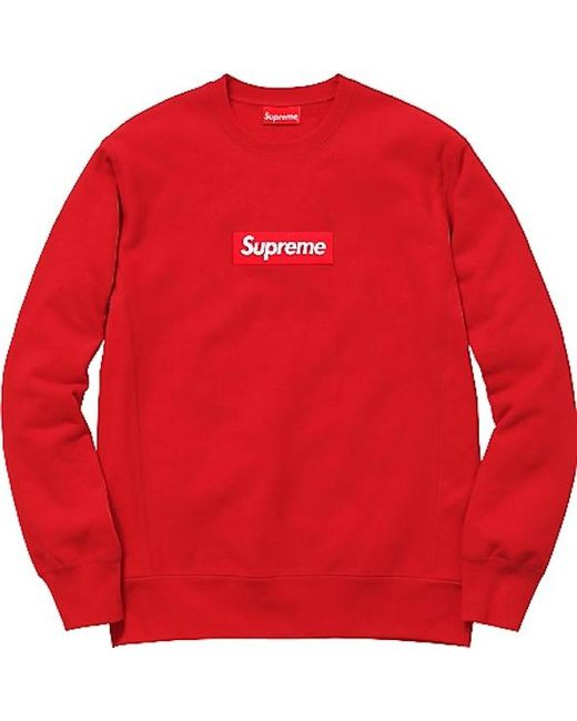 d0f929995428 Lyst - Supreme Box Logo Crewneck (fw15) Red in Red for Men