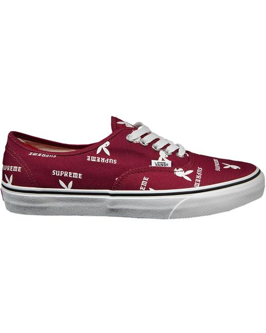 5e4f9f6a35 Lyst - Vans Authentic Supreme X Playboy Burgundy in Red for Men