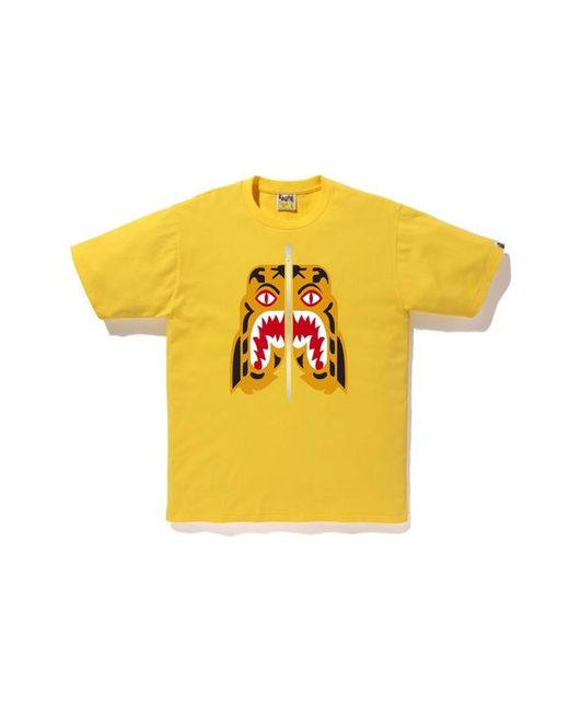 143e35285 Lyst - A Bathing Ape Tiger Tee (fw18) Yellow in Yellow for Men