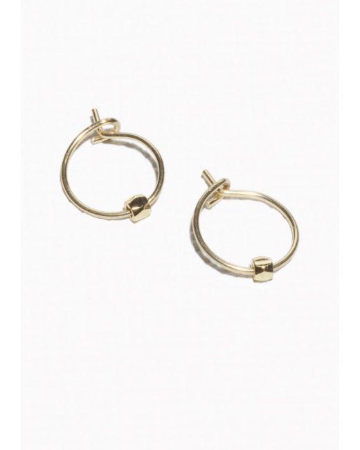 & Other Stories | Metallic Faceted Bead Hoop Earrings | Lyst