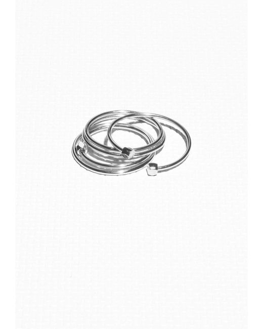 & Other Stories | Metallic Stack Rings | Lyst