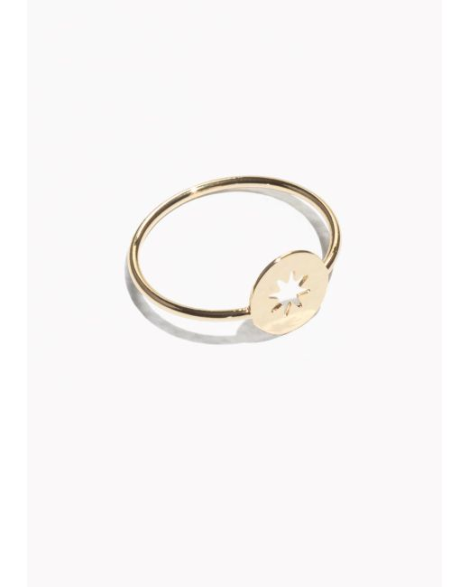 & Other Stories   Metallic Star Charm Ring   Lyst