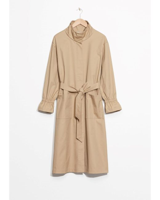 & Other Stories | Natural Stand-up Collar Trench Coat | Lyst