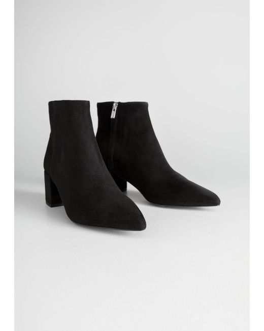 8426d213beb Lyst -   Other Stories Heeled Ankle Boots in Black - Save 45%