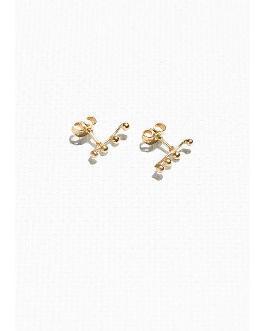 & Other Stories   Metallic Crawler Earrings   Lyst