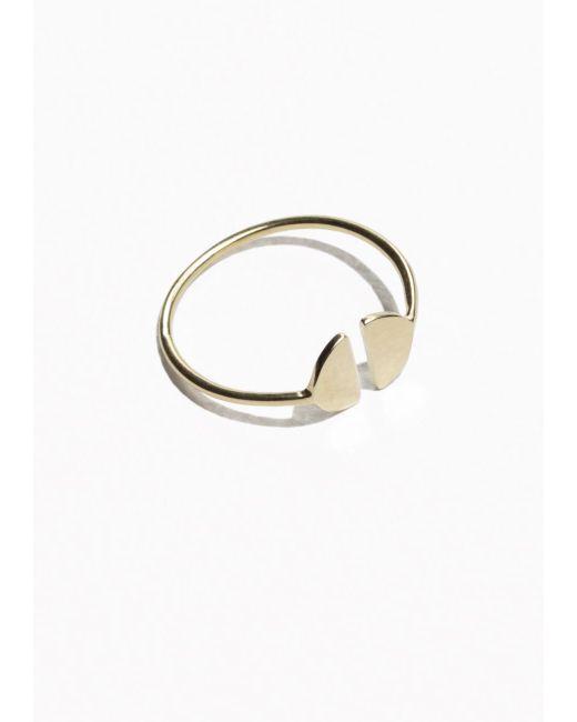 & Other Stories | Metallic Half Moon Ring | Lyst