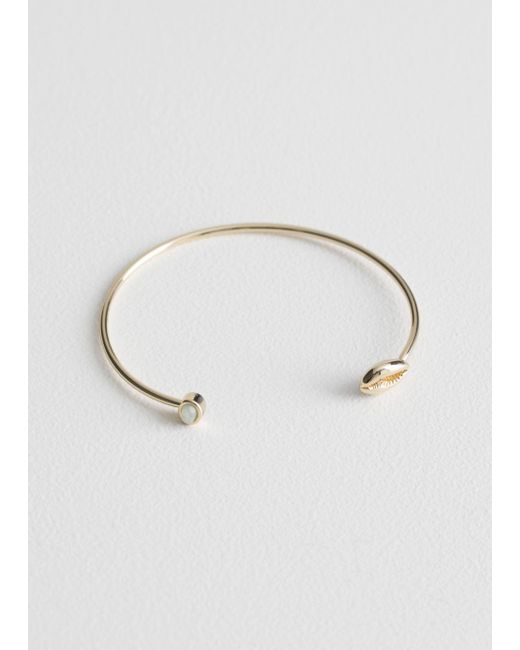 & Other Stories - Green Puka Shell Cuff - Lyst
