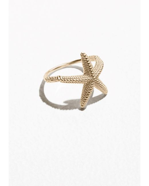 & Other Stories | Metallic Star Fish Ring | Lyst