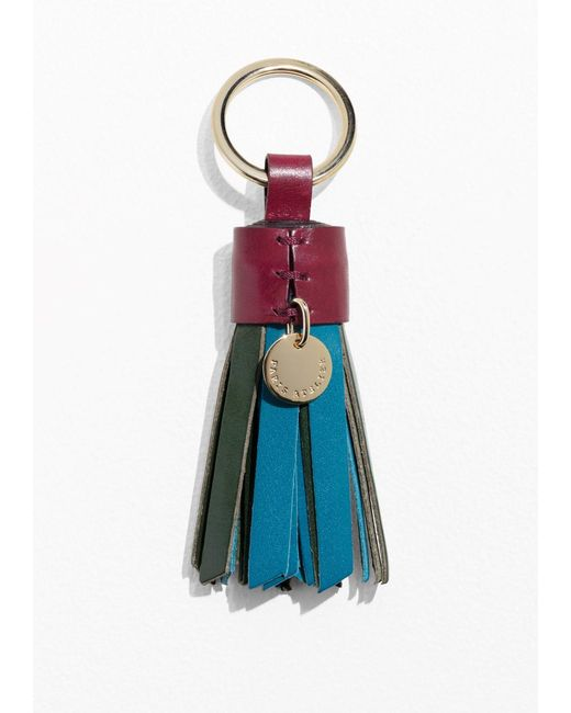 & Other Stories | Blue Leather Tassel Keyring | Lyst