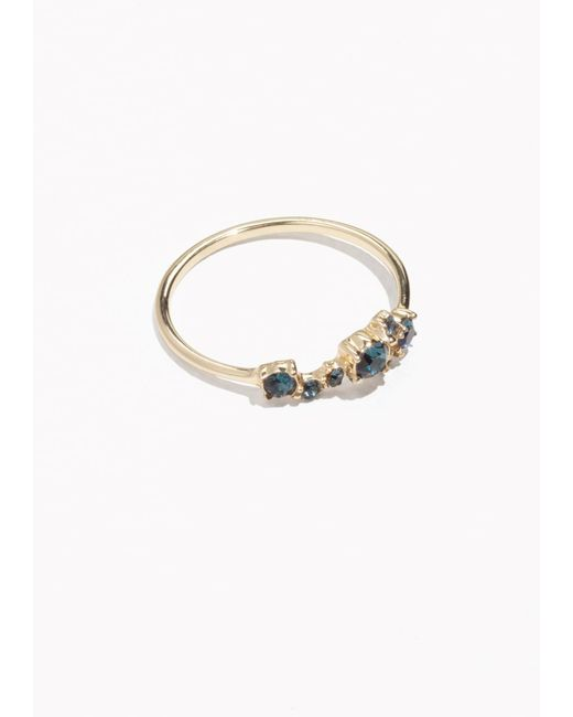 & Other Stories | Blue Stone Strass Ring | Lyst