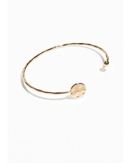 & Other Stories | Metallic Lightly Hammered Cuff | Lyst