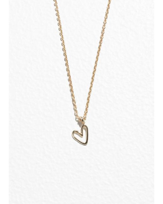 & Other Stories - Metallic Heart Pendant Necklace - Lyst