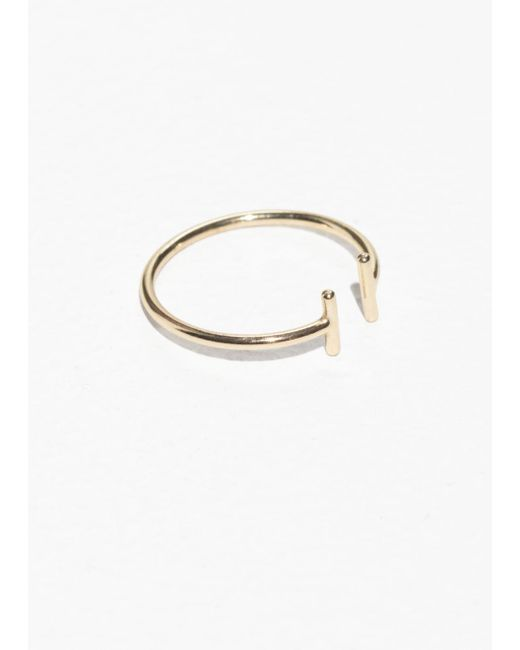 & Other Stories - Metallic Open Duo Bar Ring - Lyst