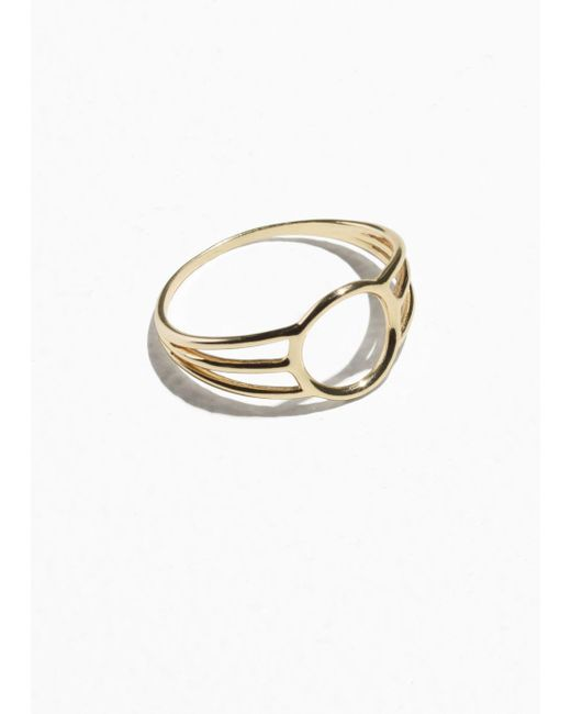 & Other Stories - Metallic Triple Band Circle Ring - Lyst