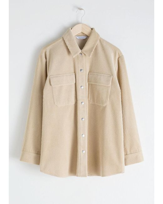 & Other Stories - Natural Oversized Corduroy Workwear Shirt - Lyst