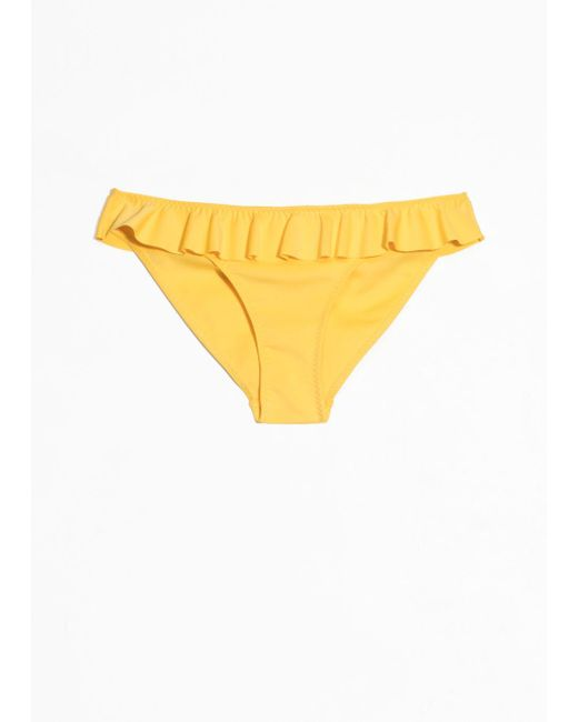 & Other Stories - Yellow Ruffle Bikini Briefs - Lyst