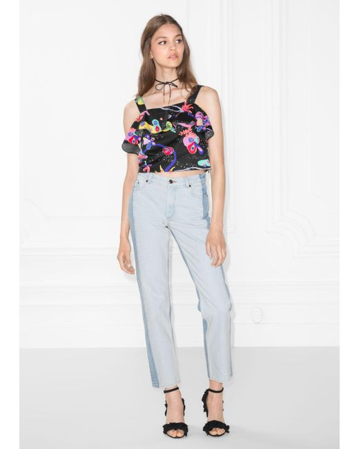 & Other Stories - Blue Two-toned Jeans - Lyst