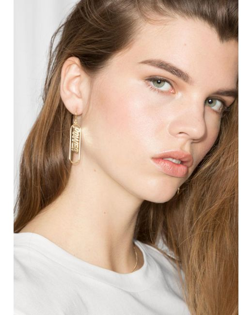 & Other Stories - Metallic Power Charm Earrings - Lyst