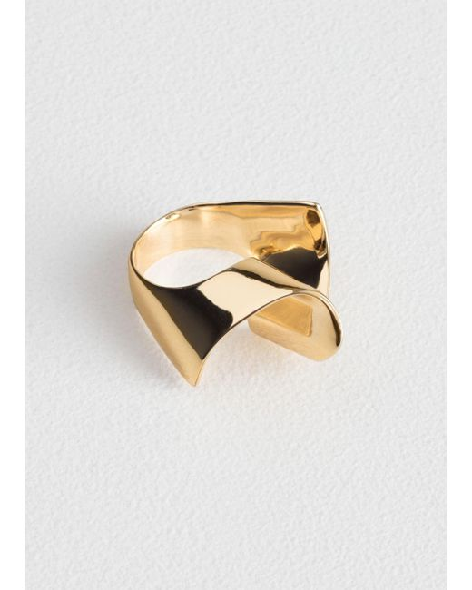 & Other Stories - Metallic Ripple Wave Ring - Lyst