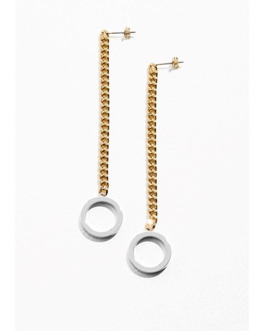 & Other Stories | Metallic Chain Pending Earrings | Lyst
