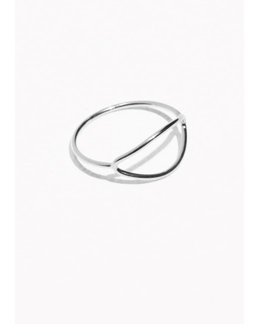 & Other Stories | Metallic Open Oval Ring | Lyst