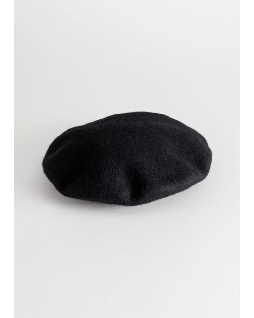& Other Stories - Black Wool Beret - Lyst