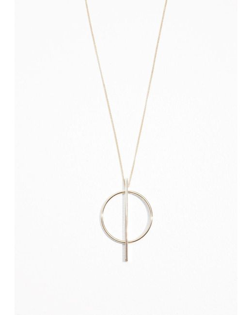 & Other Stories | Metallic Geometric Circle Necklace | Lyst