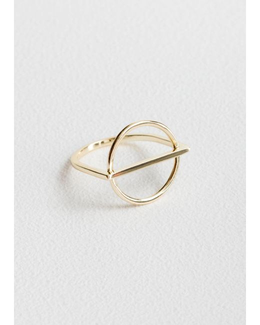 & Other Stories - Metallic Circle Bar Ring - Lyst