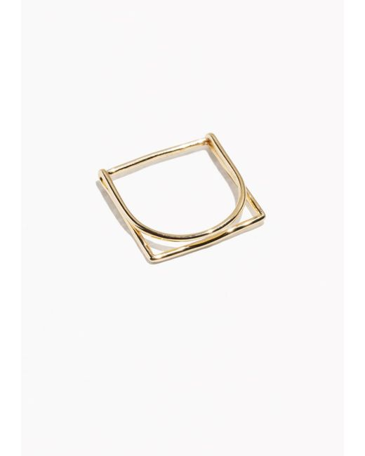 & Other Stories | Metallic Cube Ring | Lyst