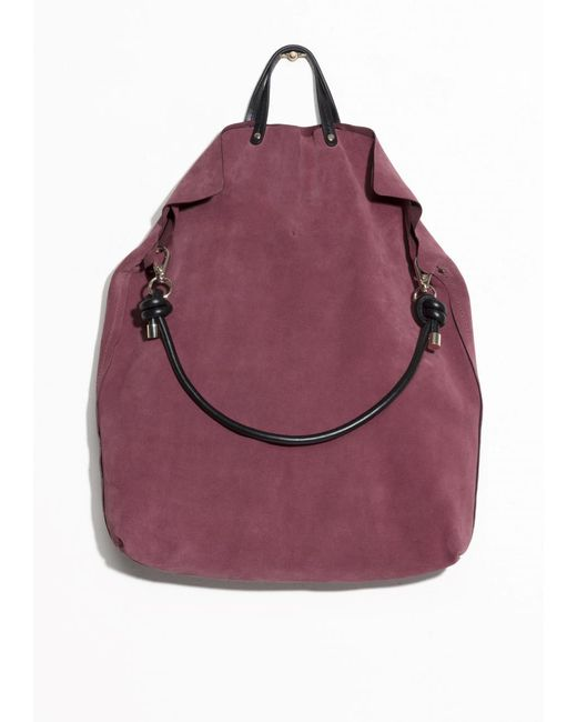 & Other Stories   Purple Suede Tote Bag   Lyst