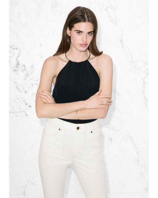 & Other Stories   Black Neck Bangle Top   Lyst